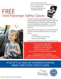 Car Seat Safety Class Hoag